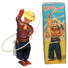 Charming Wind Up  Rodeo Cowboy in Box ALPS Japan