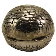 Sterling Walnut shaped pillbox