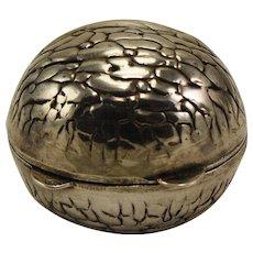 Sterling Walnut shaped pillbox