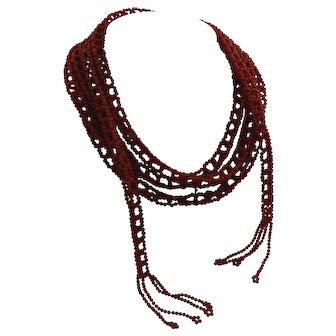 Coral torsade / necklace