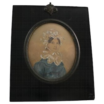 Georgian watercolour miniature