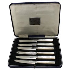 Box set of Sterling and Mother of Pearl Knives