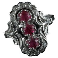 14 kt Ruby and Diamond ring