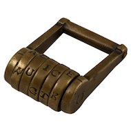 Victorian brass barrel lock