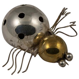Mexican Sterling Silver Bug Brooch