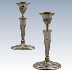 English Sterling Silver Candlesticks in the Georgian Style