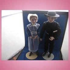 Armish Bride and Bridegroom  Doll