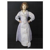 Unusual  Cloth and Papier Mache Doll