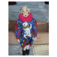 Steiff   Coloro  Clown  Doll
