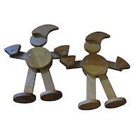 Wooden Figures of German Cartoon Characters