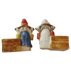 Dutch Pair of Boy and Girl Match Holder