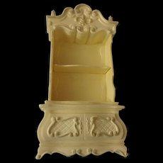Miniature Plastic Curio Cabinet