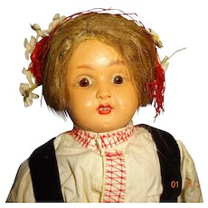 Celluloid  Doll  with regional  clothes