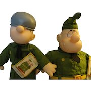 Bettle Bailey And Sarge  Dolls