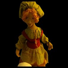 Cloth Sculpture Doll  from the Fables Leda and the Swan