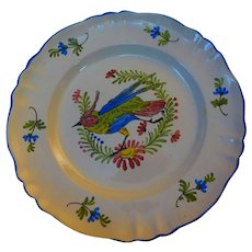 Hand-painted Faience Plate