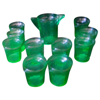 Transparent Green Children's Lemonade Set