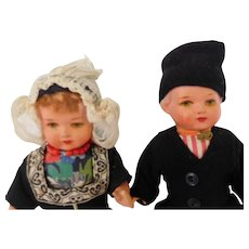 German  Bisqueloid  Boy and Girl Doll