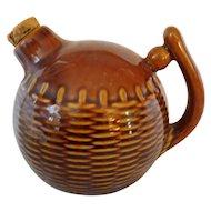 Wonderful Vintage Pottery Brown Jug