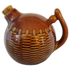 Wonderful Vintage Pottery Brown Jug