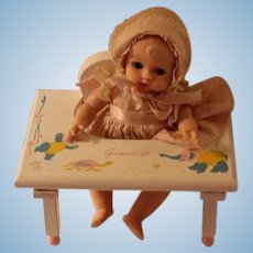 1950s V0gue Ginnette   Doll with Original Baby Tender
