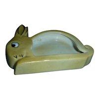 Cute Rabbit Advertisement All Bisque