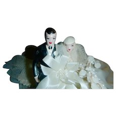 1940s Bride and Groom  Cake  Topper