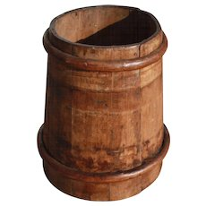 Primitive Staved Wood Bucket