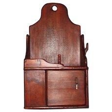 Primitive Pine Wall Box With Door