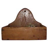 19Th Century Primitive Pine Wall Box