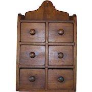 Primitive 6 Drawer Spice Cabinet