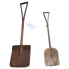Primitive wooden mill shovel