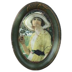 "Vintage 1920 ""Golfer Girl"" Coca-Cola Tip Tray"
