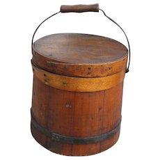 19th Century Small Firkin Bucket