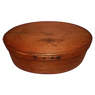 Rare Large Oval Pantry Box