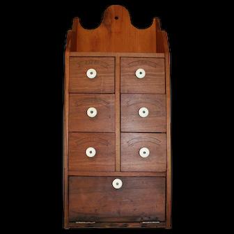 Vintage Large 7 Drawer Spice Cabinet