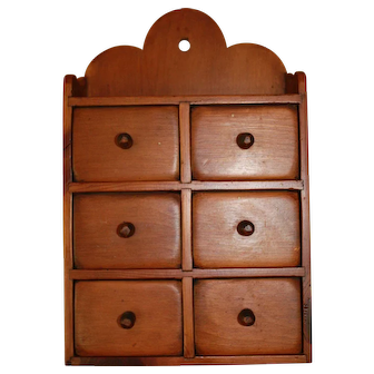 Wall Pine Spice Cabinet