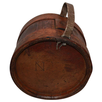 Rare  Late 18th Century Wood Staved Canteen