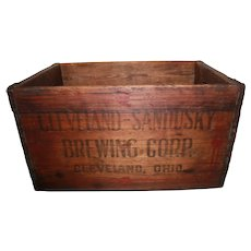 Cleveland And Sandusky Brewing Company Advertising Crate