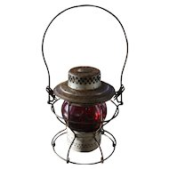 Pennsylvania Railroad Handlan Red Globe Lantern