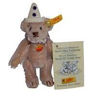 Steiff Historic Miniatures Rose Clown Teddy Bear