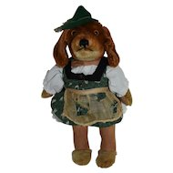 Sweet Steiff Bazili Dachshund Girl Doll, RSB