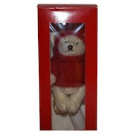 Cute Steiff Tinsel Christmas Ornament, First Steiff Ornament, 1994