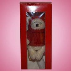 Cute Steiff Tinsel Christmas Ornament, First Steiff Ornament, 1994