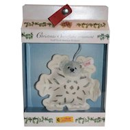 Steiff Snowflake Tree Ornament, 10th in Series, MIB, Cute!!