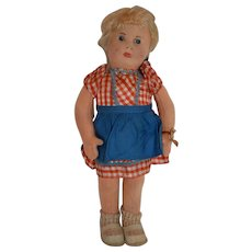 "Wonderful Early Post War Steiff Felt doll ""Mia"" with ID"