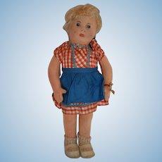 """Wonderful Early Post War Steiff Felt doll """"Mia"""" with ID"""