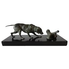 Bronze Sculptor Hunting Dog Paul-Eduoard Delabrierre
