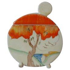 Clarice Cliff Taormina Orange Patter Bonjour Jam Pot