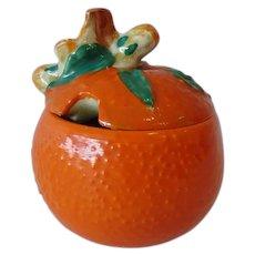 Clarice Cliff Orange Marmalade Pot